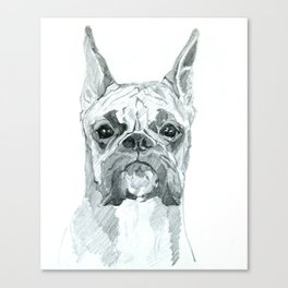 The Boxer Dog Miley Canvas Print