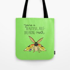 Leslie Knope Compliments: Rule-Breaking Moth Tote Bag