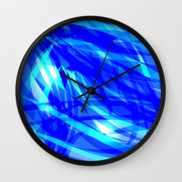 Vector glowing water background made of blue sea lines. Wall Clock