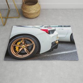 Sports Car Wheels Rug