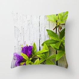 Beauty on Rustic Cedar Throw Pillow