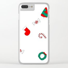 Winter Holiday Themed Illustration Merry Christmas! Clear iPhone Case