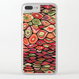 70s psychedelic Clear iPhone Case