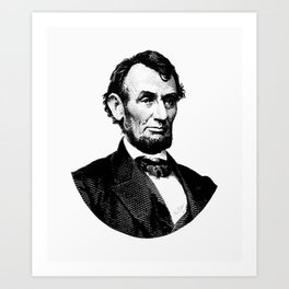 President Abraham Lincoln Graphic Art Print