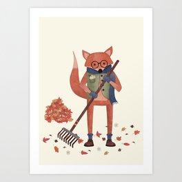 Ferdinand the Fall Fox Art Print