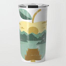 Vintage Panorama Apple Travel Mug