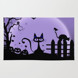 Cat Halloween-Nightmare Rug