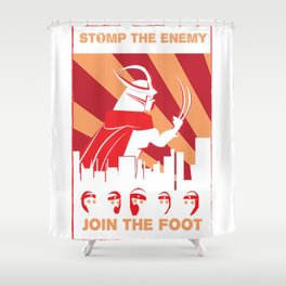 Stomp the enemy join foot Shower Curtain