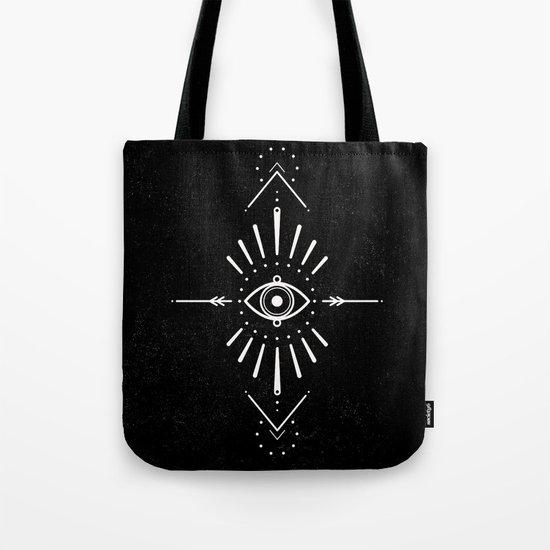Evil Eye Monochrome Tote Bag
