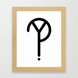 Black Y? Symbol Framed Art Print