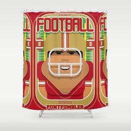 American Football Red and Gold - Enzone Puntfumbler - Seba version Shower Curtain