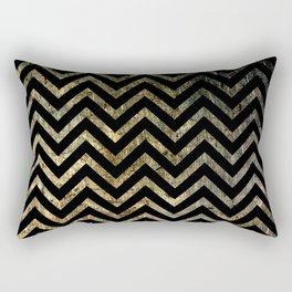 Brass Chevrons Rectangular Pillow