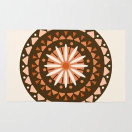 Jivin' - mandala trendy 70s style retro colors decor circle sun Rug