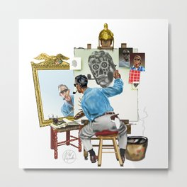 Chew Bubble Gum and Basterdize a Norman Rockwell Classic...and I'm All Out of Bubble Gum Metal Print
