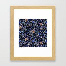 Barca Dots Pattern blue/purple/black Framed Art Print