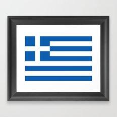 Flag of Greece Framed Art Print