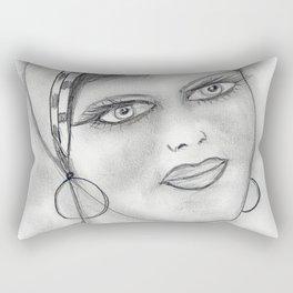 Jazzy Flapper Girl Rectangular Pillow