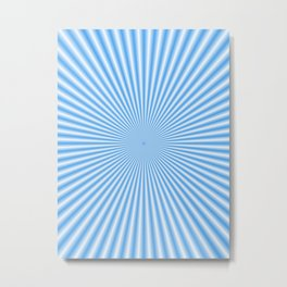64 Baby Blue Rays Metal Print