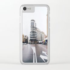 Madrid - Gran Via Clear iPhone Case