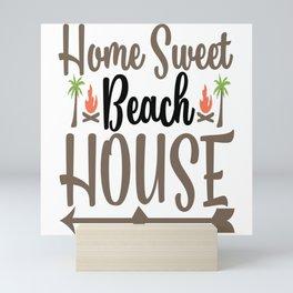 Home Sweet Beach House Mini Art Print