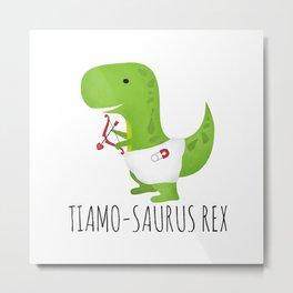 Tiamo-saurus Rex Metal Print