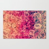 roses Canvas Prints featuring Roses by Msimioni