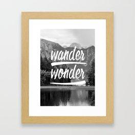 wander / wonder Framed Art Print