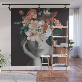 WOMAN WITH FLOWERS 7 Wall Mural