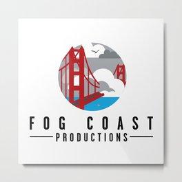Fog Coast Productions Logo White Metal Print