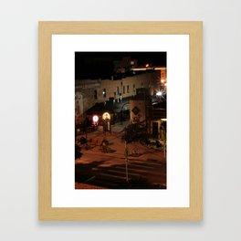 Bright Lights on Summer Nights Framed Art Print