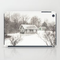cape cod iPad Cases featuring Cape Cod Snowstorm by ELIZABETH THOMAS Photography of Cape Cod