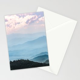 Smoky Mountain National Park Sunset Layers - Nature Photography Stationery Cards