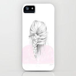 Braid in pink iPhone Case