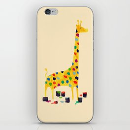 Paint by number giraffe iPhone Skin