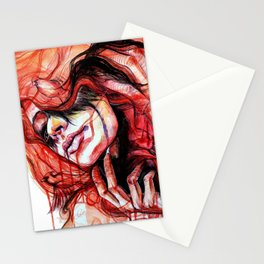 Metamorphosis-cardinal bird Stationery Cards