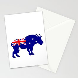 Australian Flag - Mountain Goat Stationery Cards