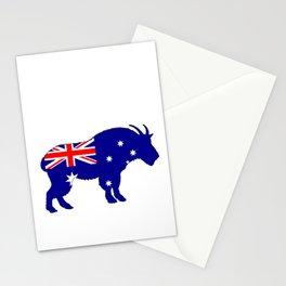 Australian Flag - Mountain Goat Stationery Cards