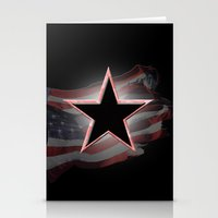 american flag Stationery Cards featuring American Flag by Jason Michael