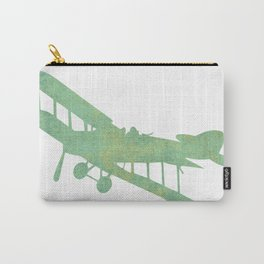 Green nursery airplane wall art print vintage Carry-All Pouch