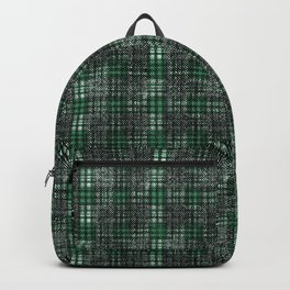 Classical black and emerald cell. Backpack