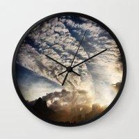 brasil Wall Clocks featuring Brasil - Leblon  by Claudia Araujo