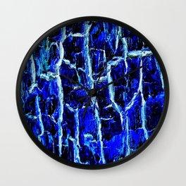 Sapphire Bark Wall Clock