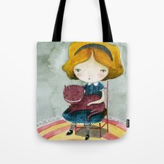 Alice In Watercolorland Tote Bag