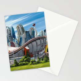 Downtown Calgary Skyline Stationery Cards