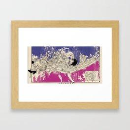 Hong Kong woman Framed Art Print