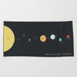 The Solar System Beach Towel