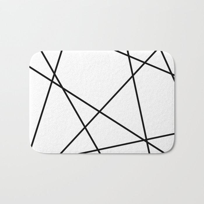 Lines in Chaos II - White Bath Mat