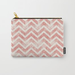 Maritime Navy Chevron Herringbone ZigZag in White Red Carry-All Pouch