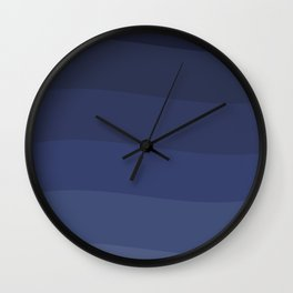 Six shades of blue. Wall Clock