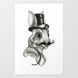 Gentleman Rabbit Art Print